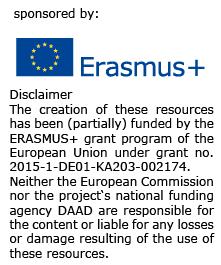 Erasmus+ logo with disclaimer