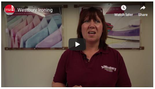 Screen shot of Westbury Ironing YouTube video