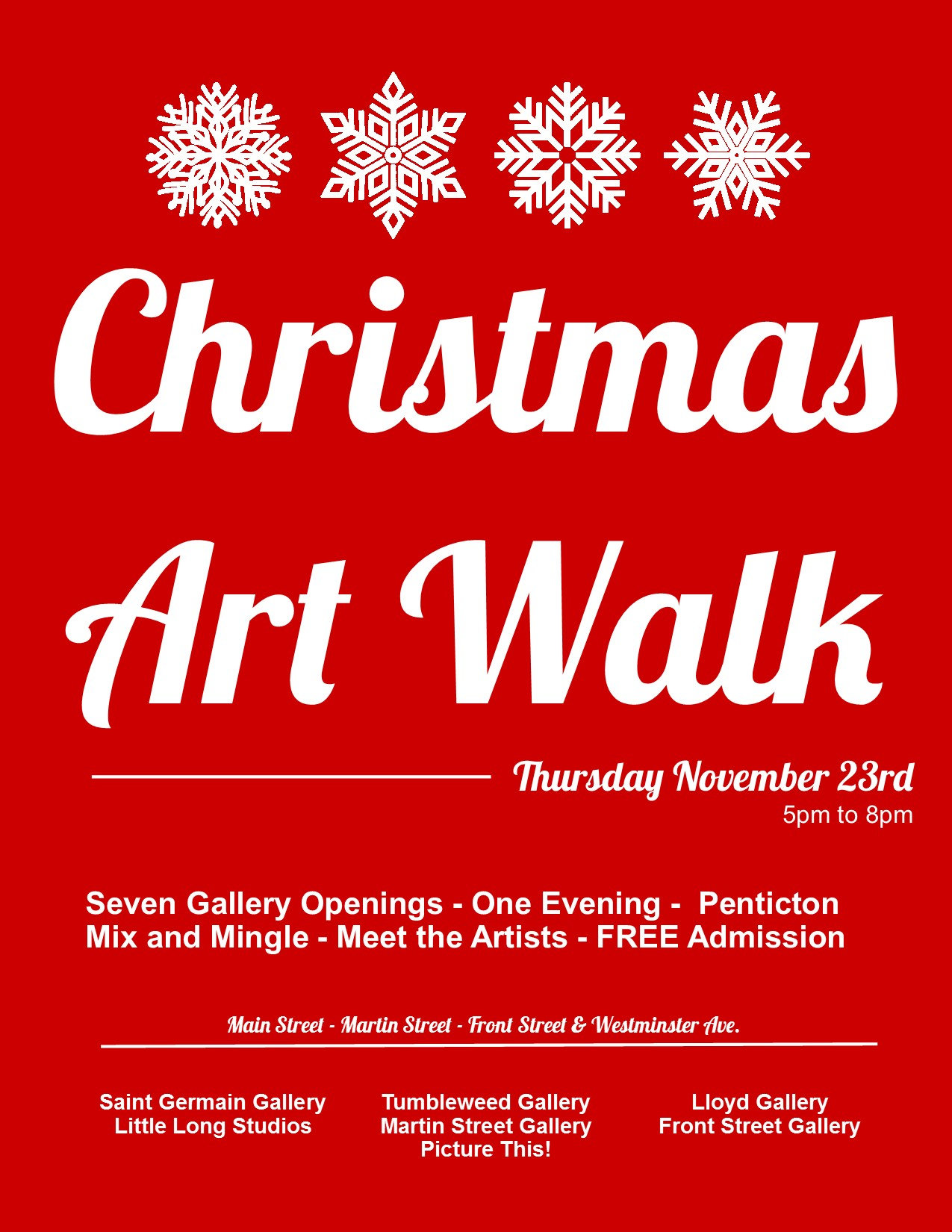 Penticton Art Walk - South Okanagan - Christmas 2017