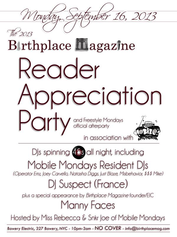 Birthplace Magazine Reader Appreciation Party