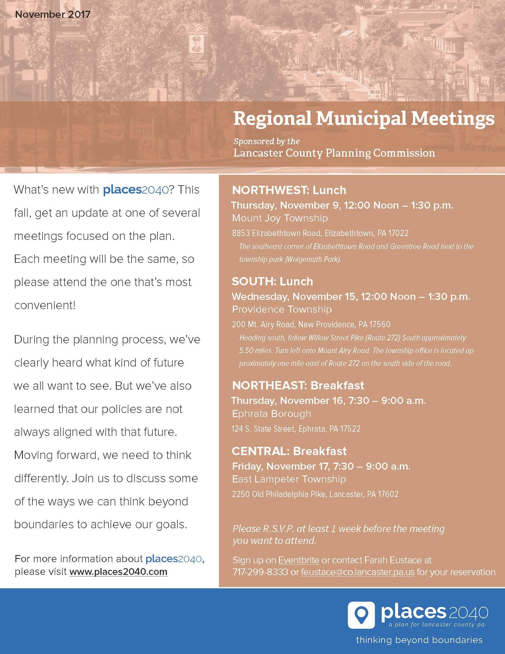 Regional Municipal Meeting Flyer