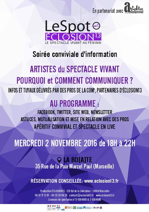 Rencontre d'information artistes spectacle vivant