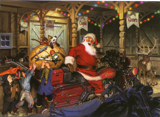 Tom Newsom's Santa Painting - Colorado Artist