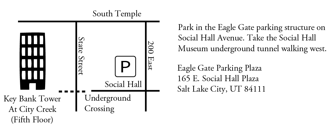 Directions Map from Eagle Gate Parking to Key Bank Tower
