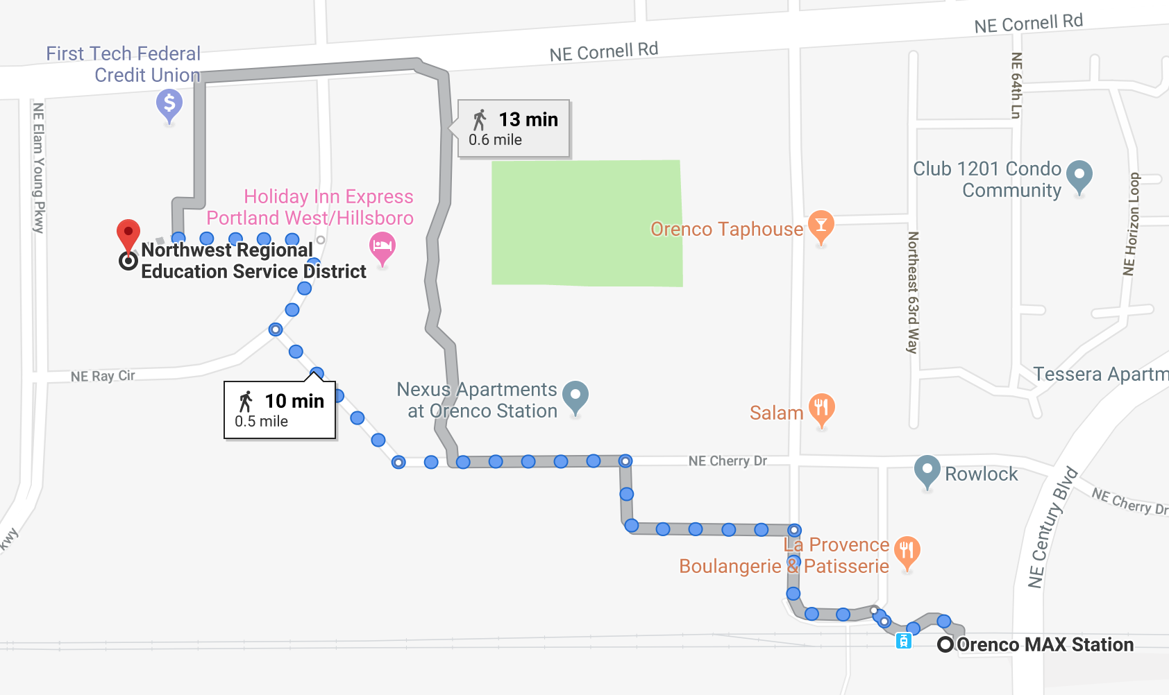 map from orenco station to NWRESD