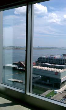 MassChallenge view of the Boston Harbor