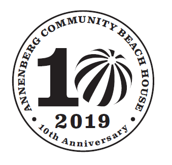 Annenberg Community Beach House 10th Anniversary Logo