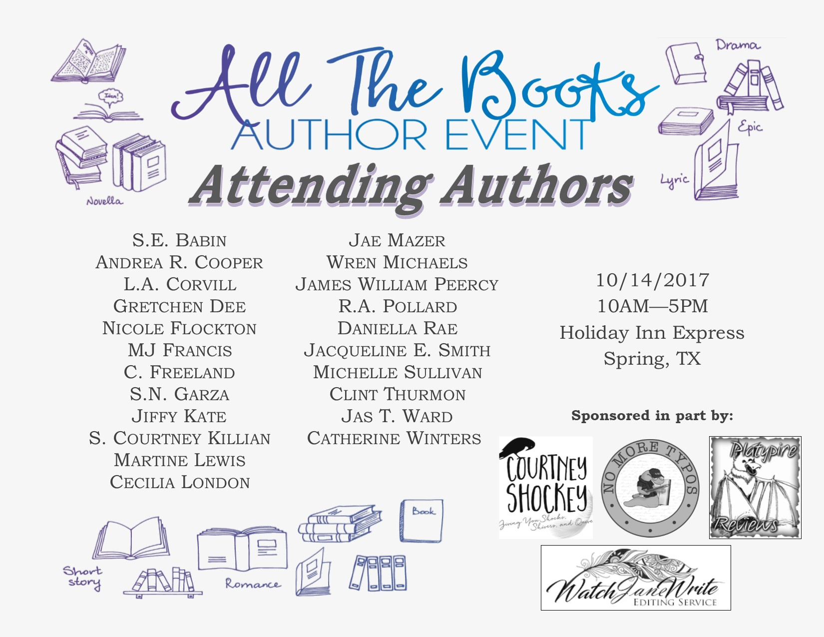ATTENDING AUTHORS