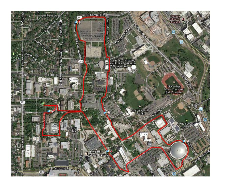 Healthy STEM 5K Course Map