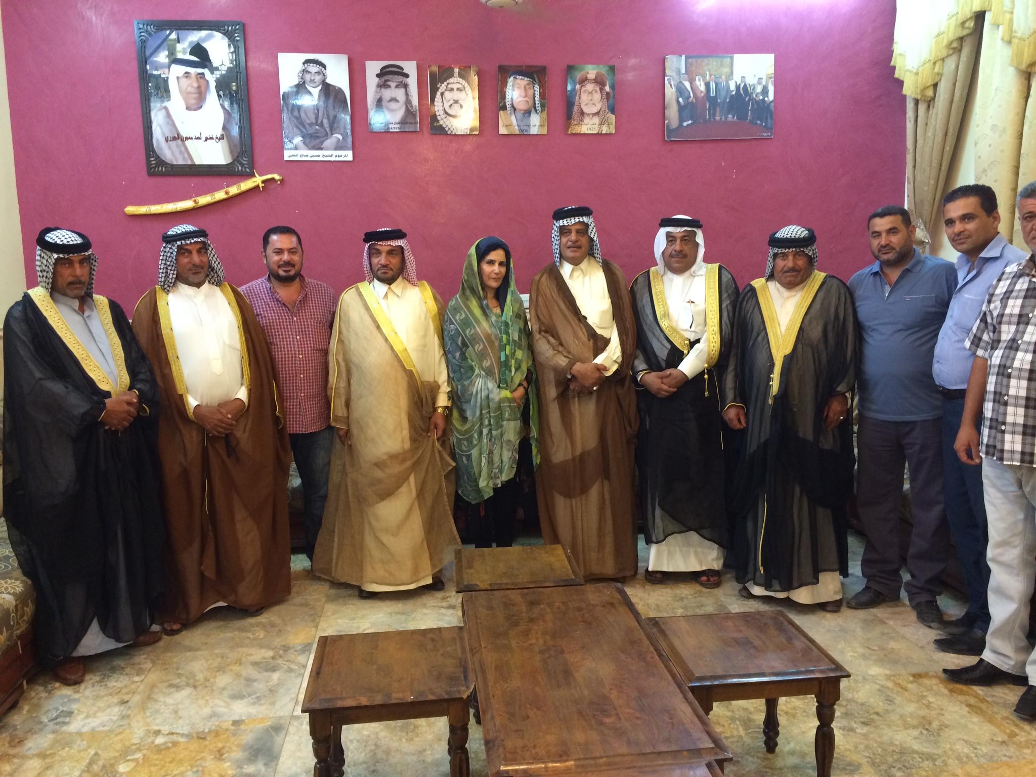 AHRA Director Amal Al-Jubouri with Iraqi Shekhs