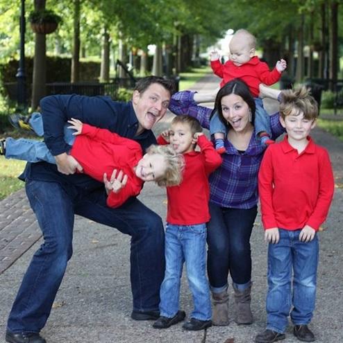 Dr. Jack his wife Sarah and 4 sons Blake Ian Nolan and Hawkin
