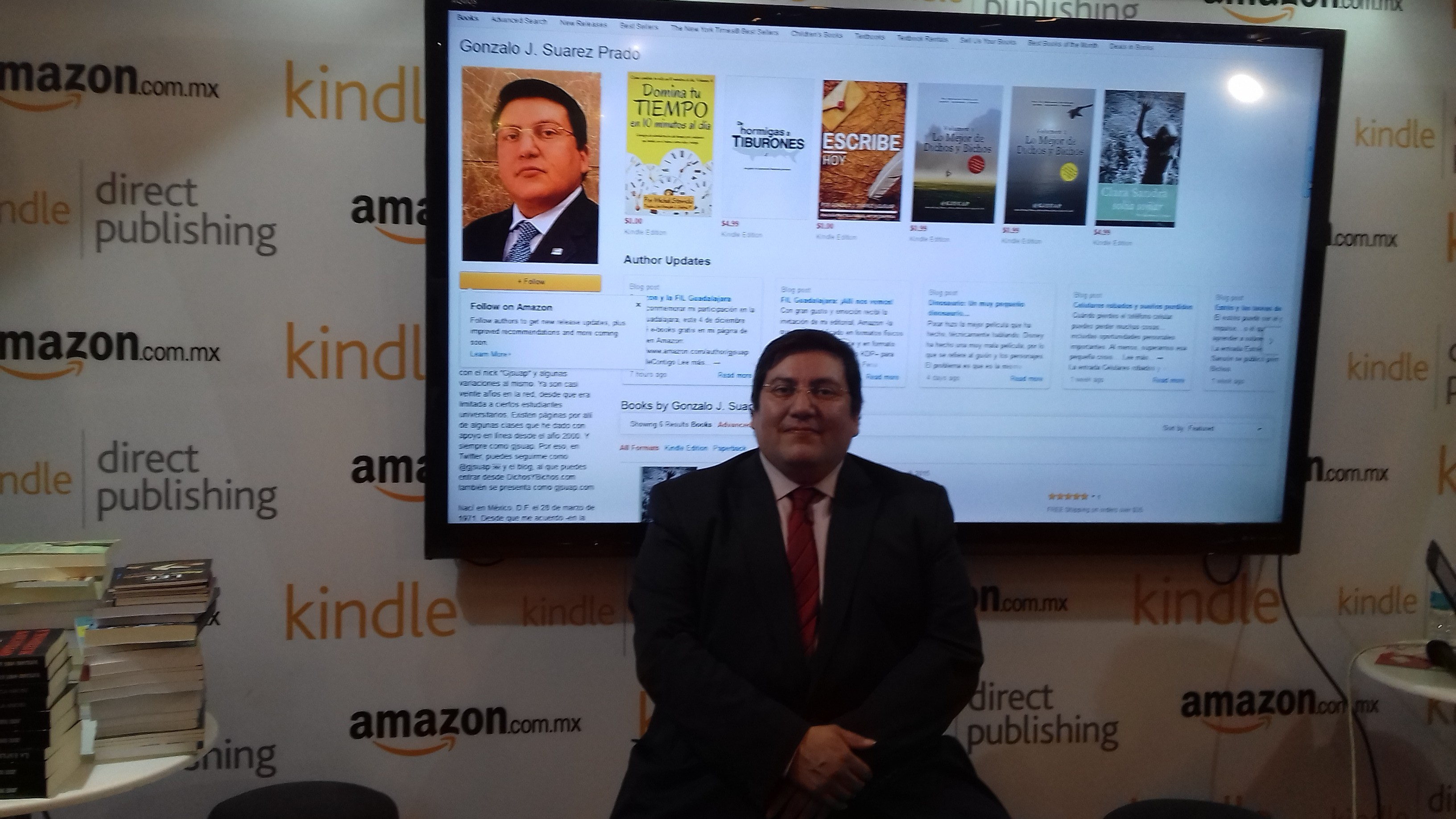 El autor en la FIL Guadalajara