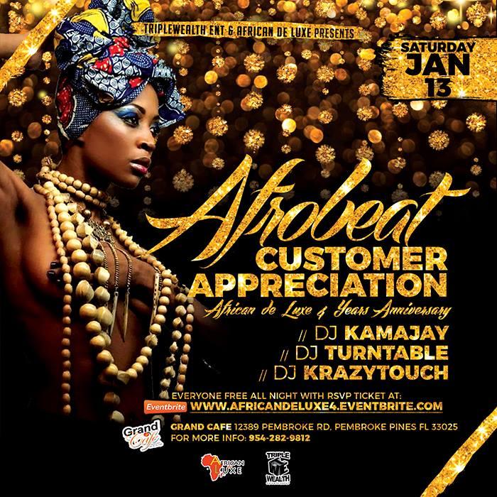 afrobeat customer appreciation