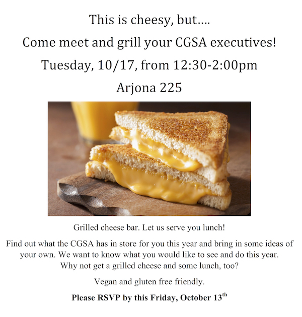 CGSA Grilled Cheese Party Invitation