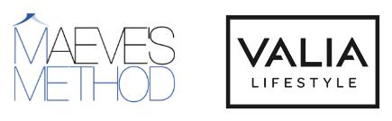 Maeve's Method Logo Valia Lifestyle Logo