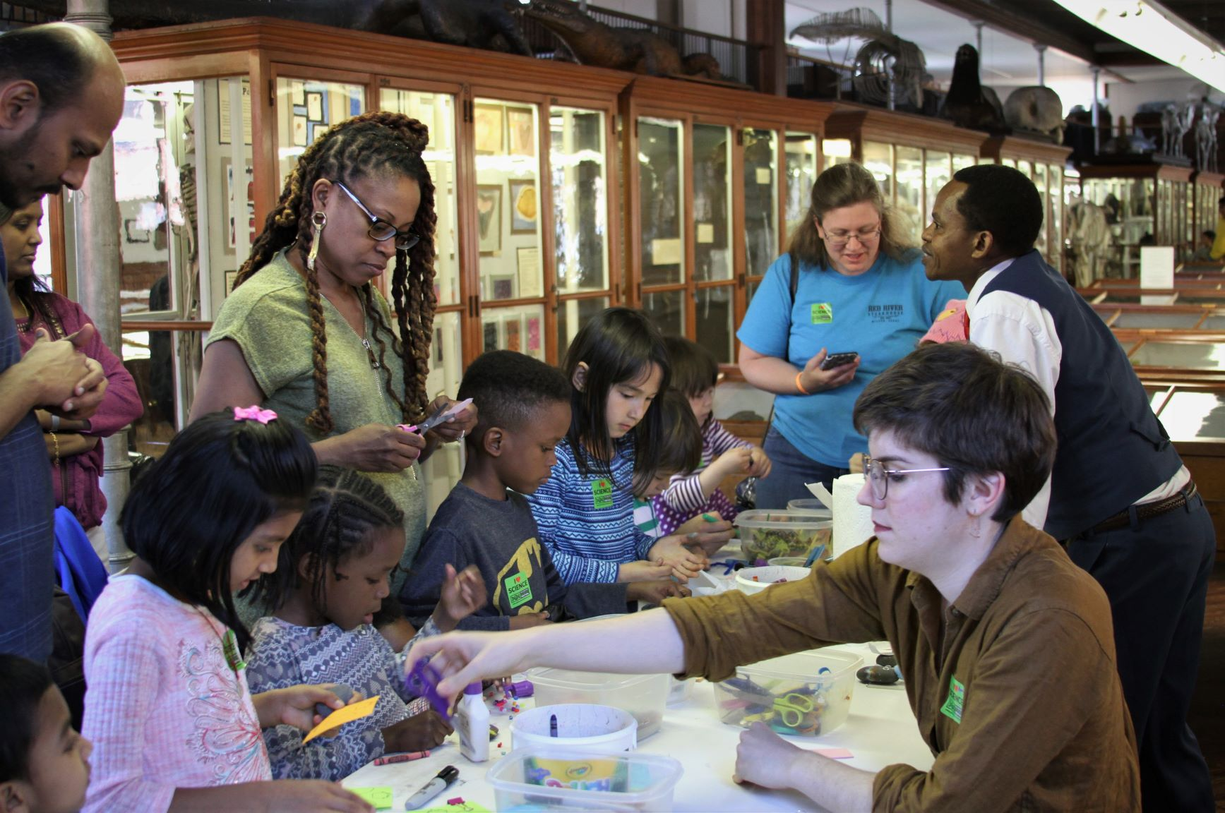 At Be a Geologist! in 2018, children decorate pet rocks in the Wagner's museum.