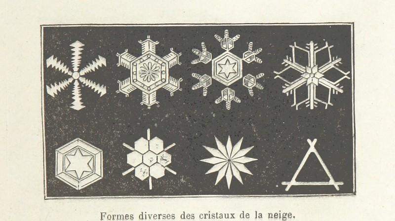 Formes diverses des cristaux de la neige, Les Artères du globe ... Illustré de ... gravures et cartes.