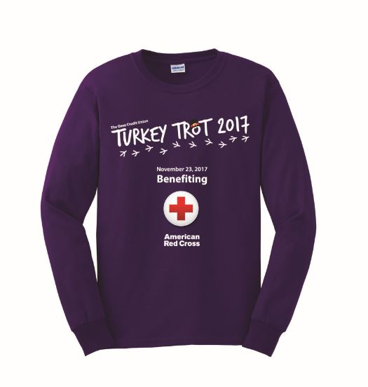 Purple 2018 Turkey Trot Shirt