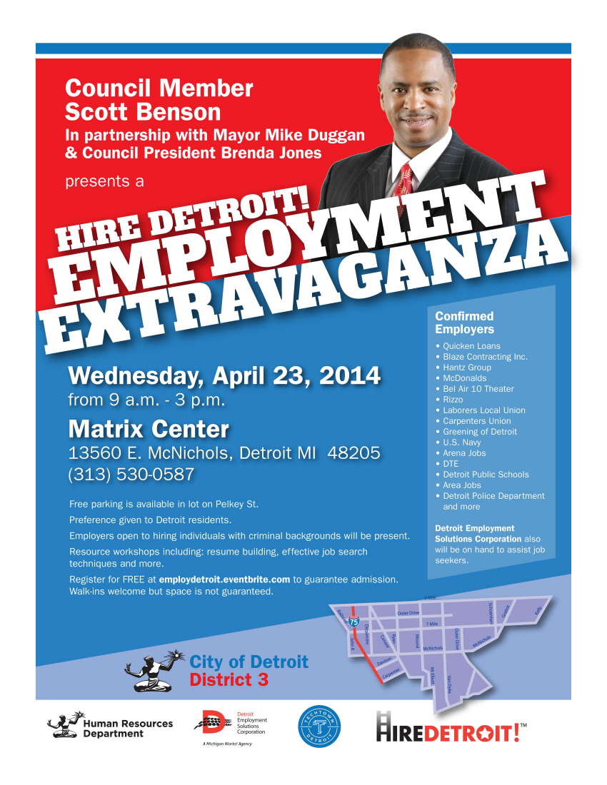 Employment Extravaganza Flyer