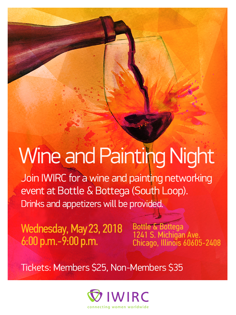 Join IWIRC for a wine and painting networking event at Bottle & Bottega