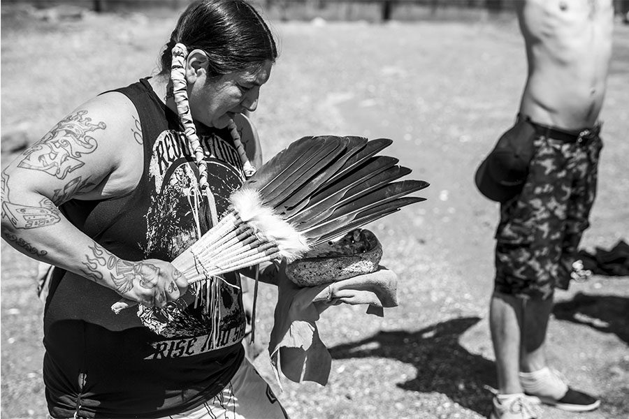 Opening cerimonies began on Saturday down in English Bay with Squamish Nation - Larissa Healey