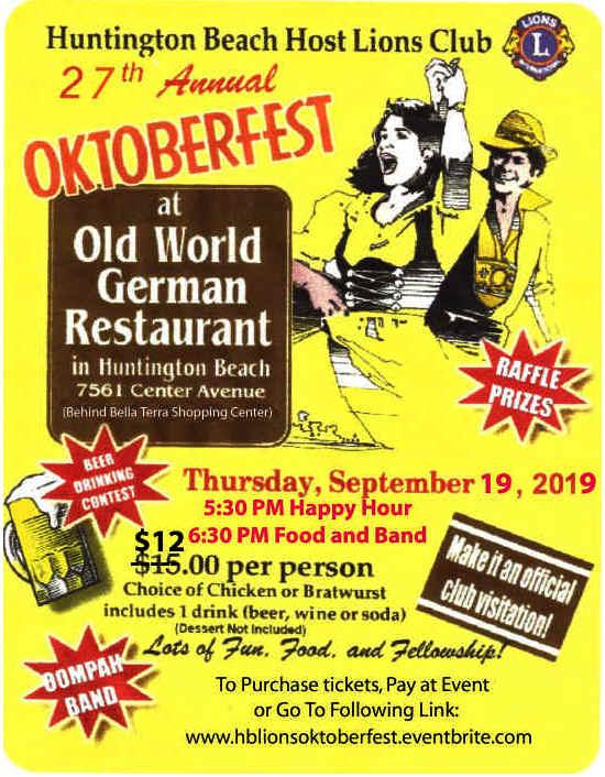 Oktoberfest Flyer September 19, 2019