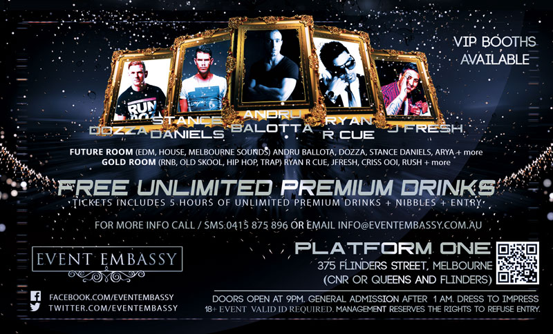 Welcome 2016 Nye Party at Platform One by Event Embassy DJ LINEUP
