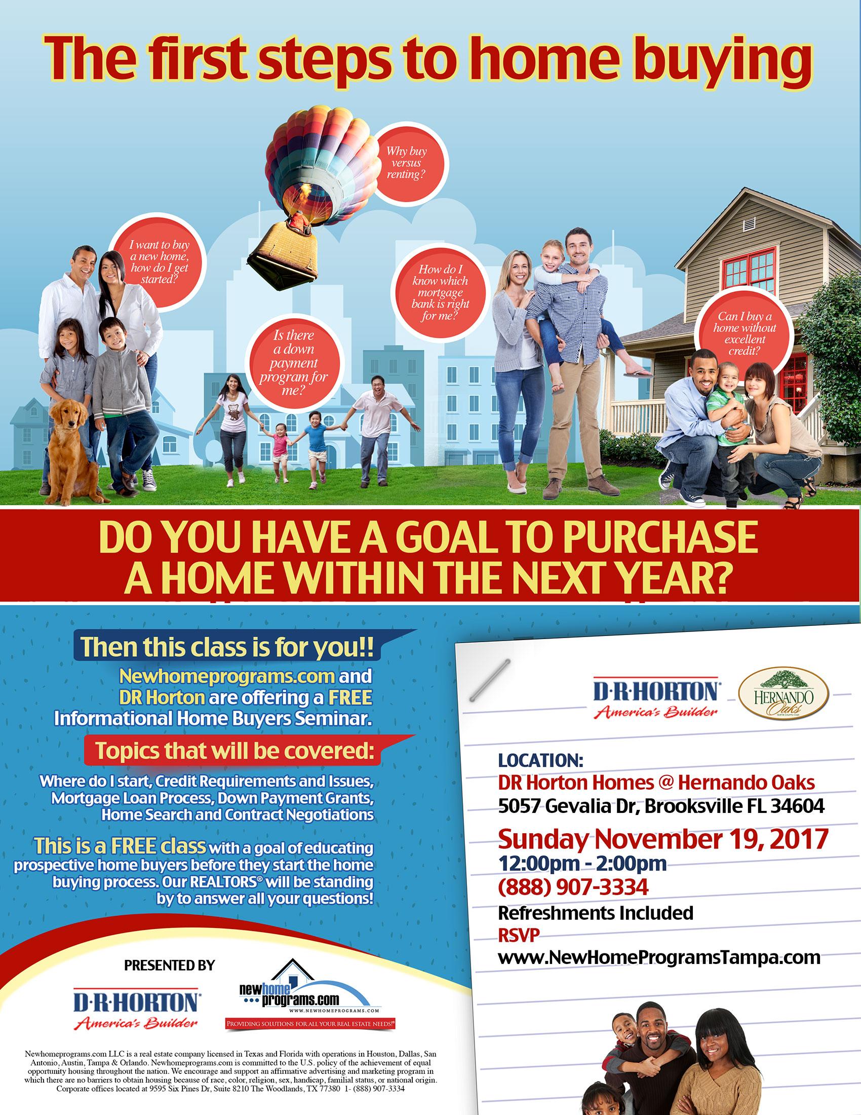 Free Home Buying Seminar | Brooksville FL