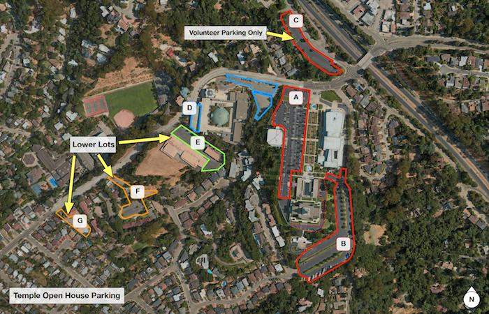 Temple Parking Lot Map