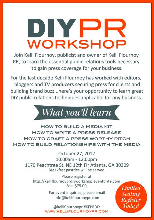 Kelli Flournoy PR DIY PR Workshop