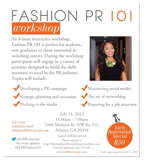 KFPR Fashion PR 101 Workshop