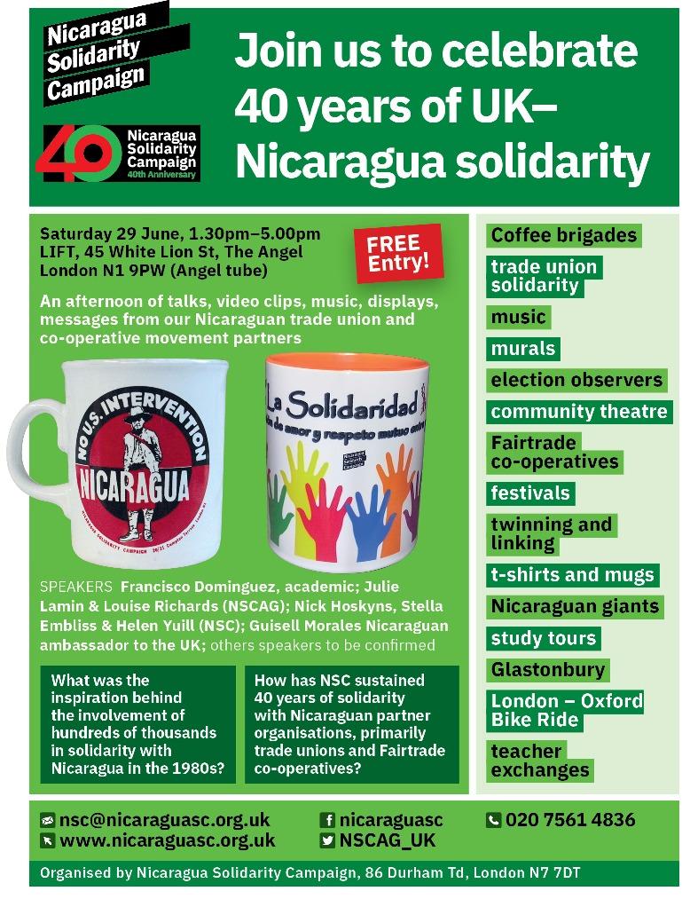 40 years of UK - Nicaragua solidarity