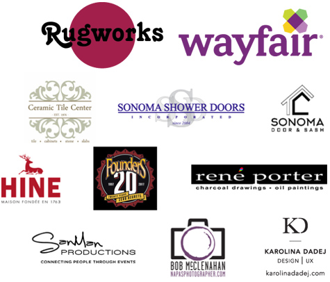Our fabulous sponsors of the Home Tour Event