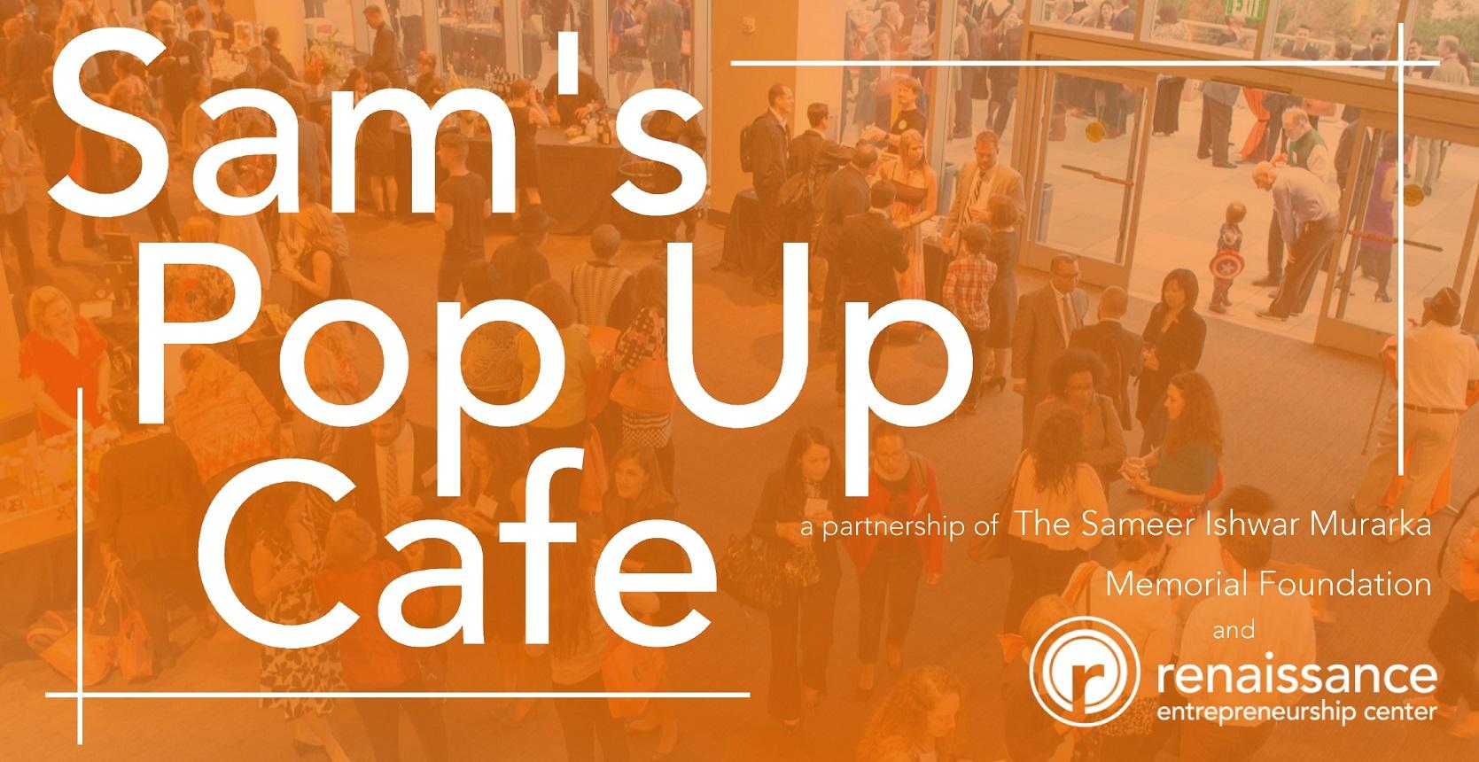 Sam's Pop Up Cafe Banner