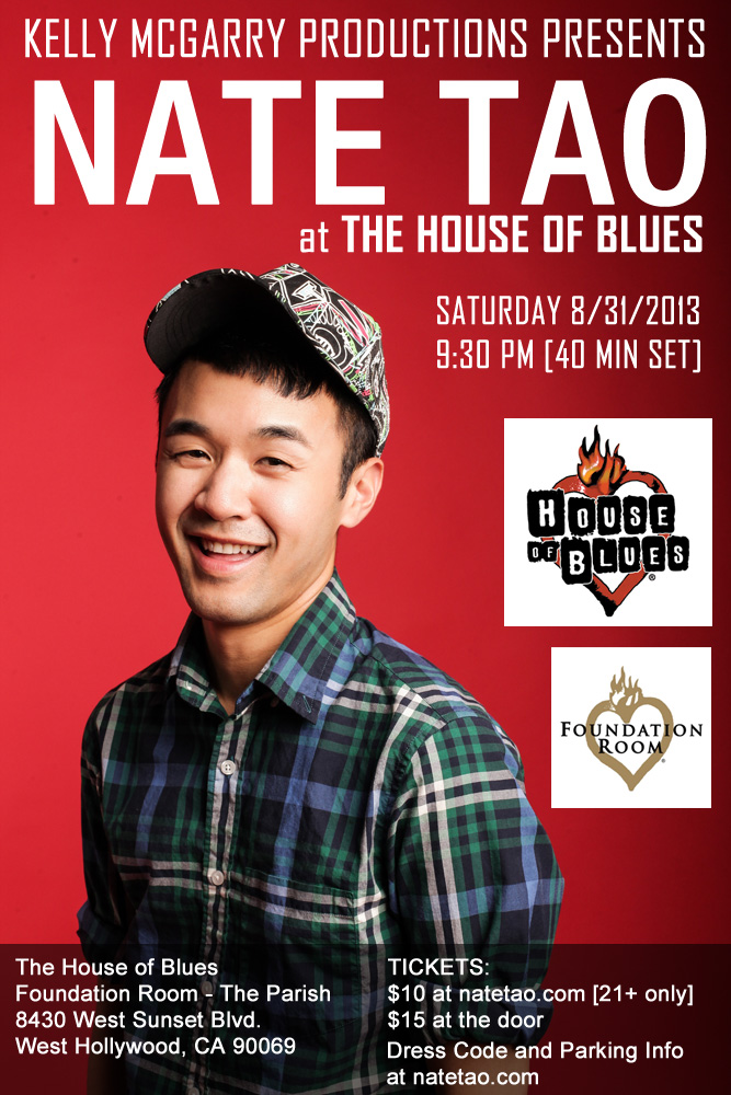 Nate Tao at The House of Blues