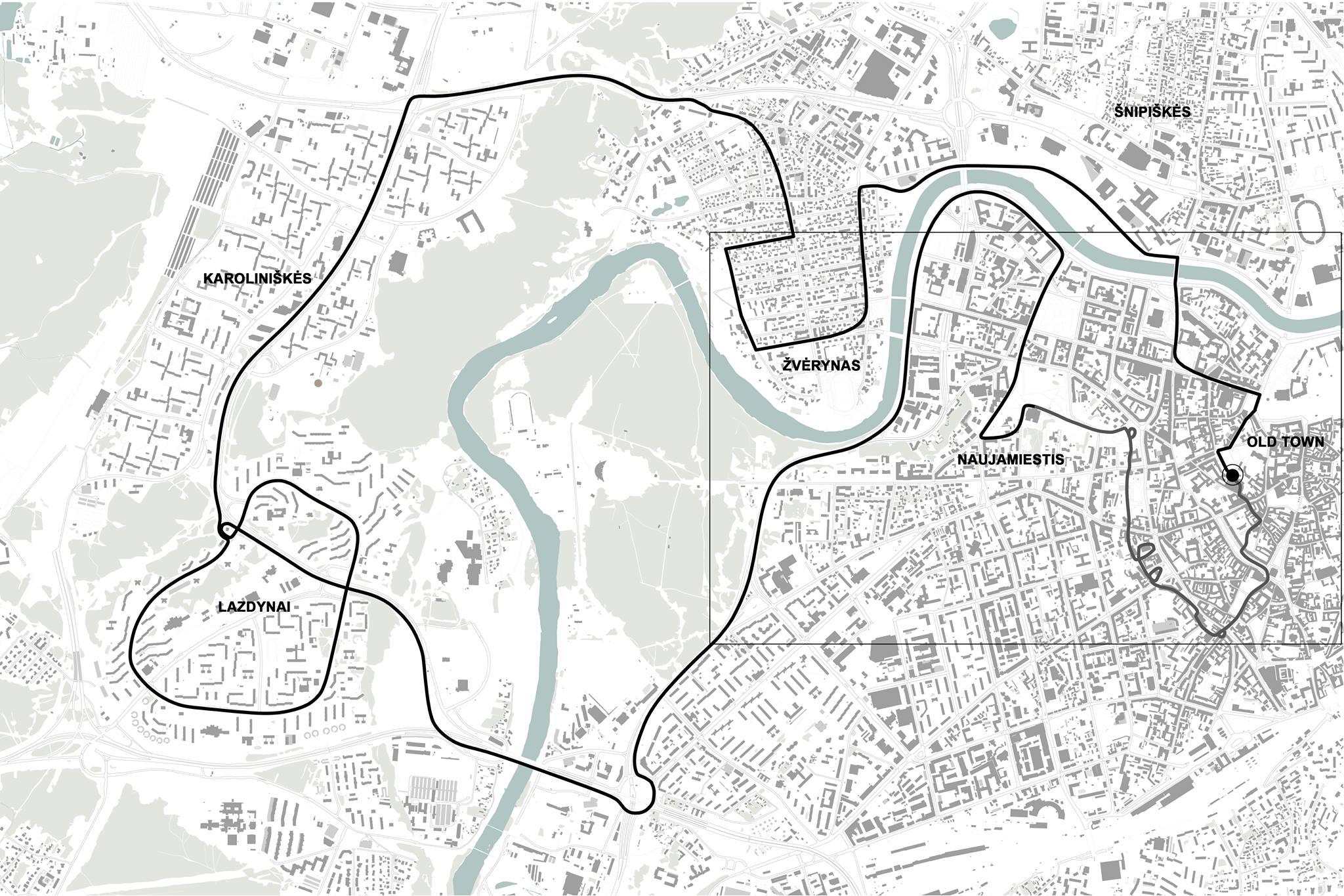 Map of the tour / Ekskursijos žemėlapis