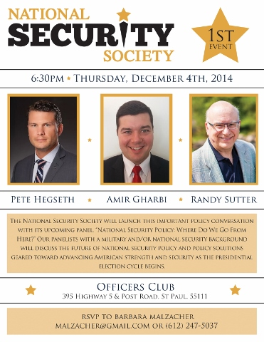 National Security Society Event Invitation