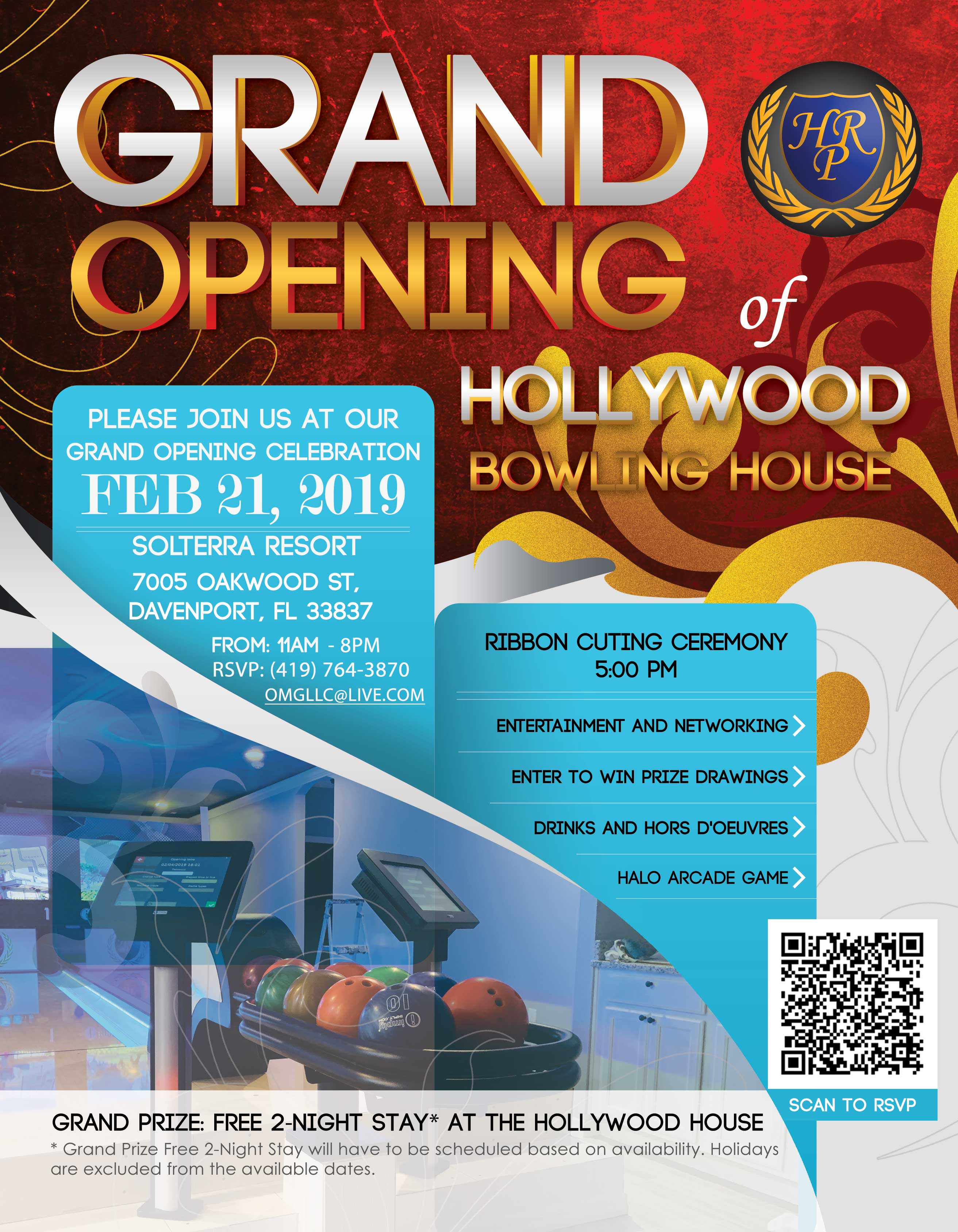 Hollywood House Grand Opening flyer
