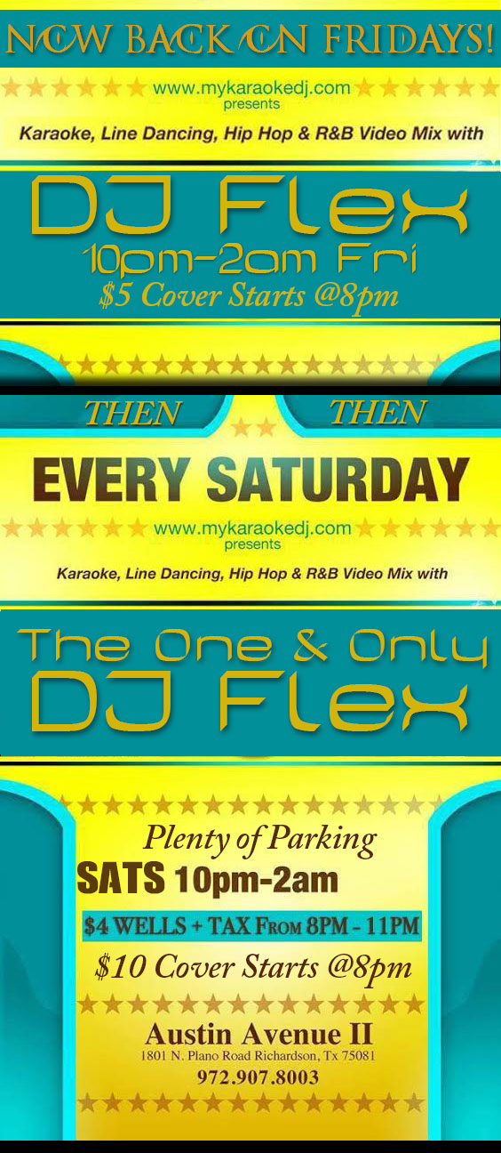 karaoke-saturdays-at-austin-avenue-in-richardson-with-dj-flex-1801-north-plano-road-richardson