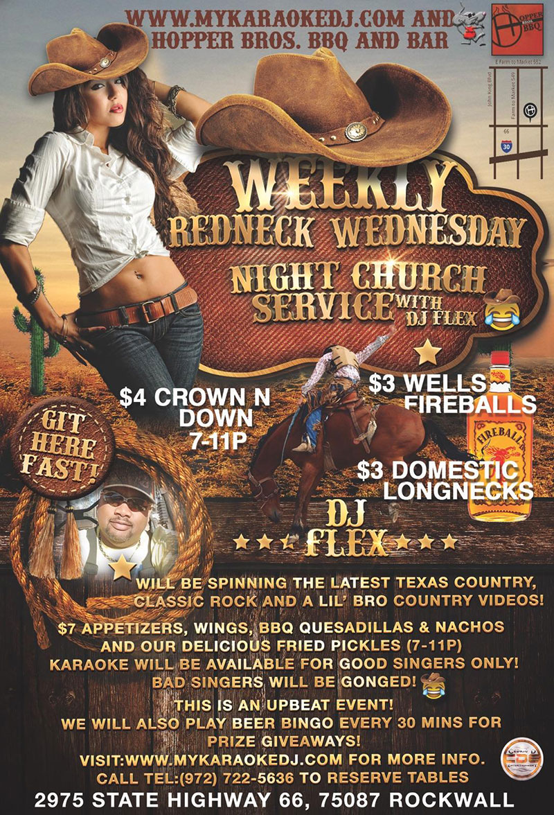 redneck-wednesday-with-dj-flex-at-hoppersbbqbar-in-rockwall