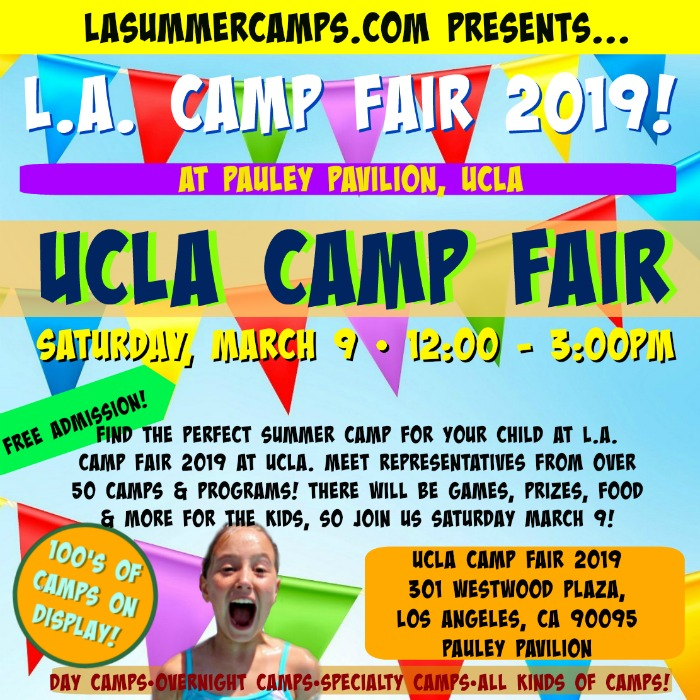 L.A. Camp Fair 2019 at UCLA's Pauley Pavilion on Saturday, March 9, 2019