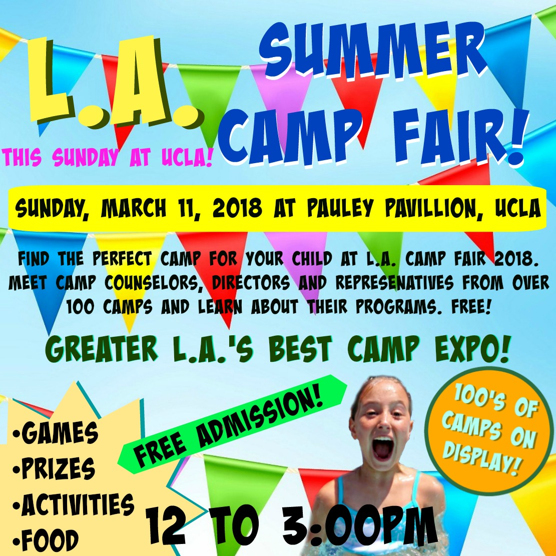 Los Angeles summer camp fair and expo picture at UCLA