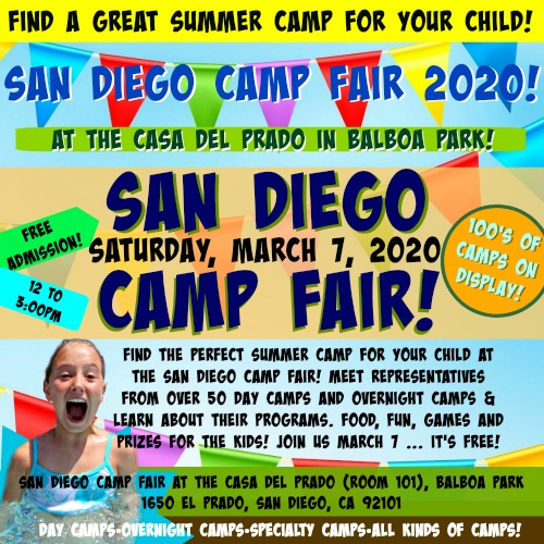 San Diego Summer Camp Fair 2020 promotional image