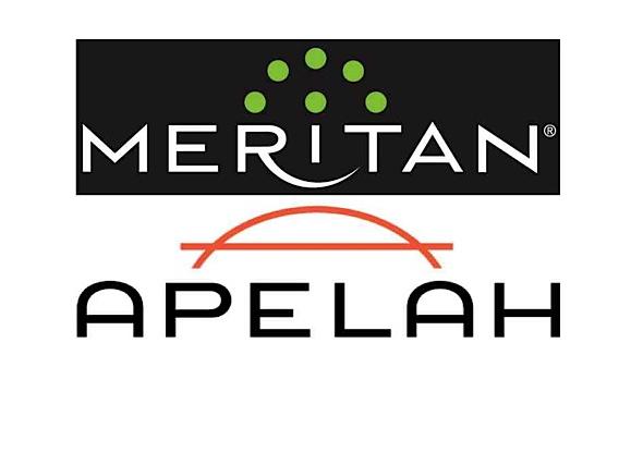 Logos for Meritan and Apelah
