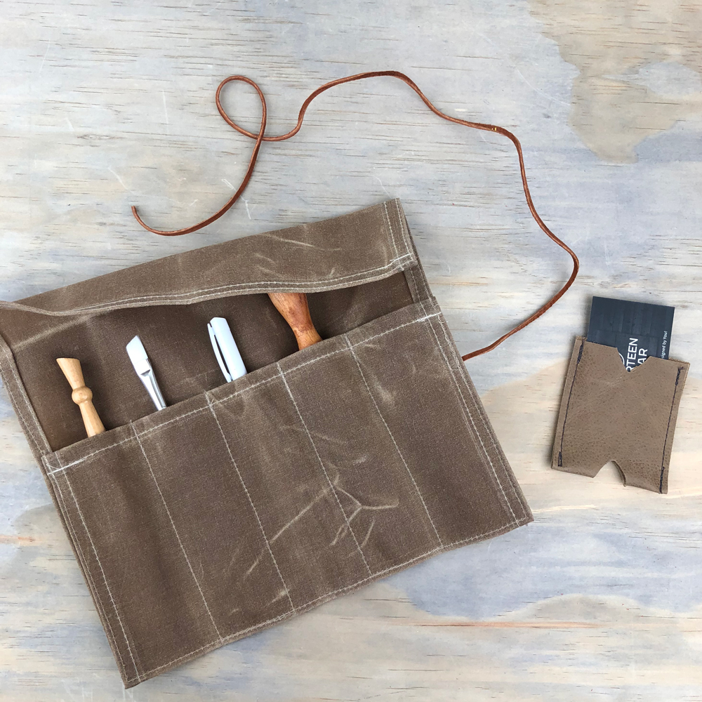 waxed canvas tool roll