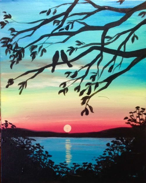 Byob spring sunset paint 39 n sip tickets fri may 5 for Easy but beautiful paintings