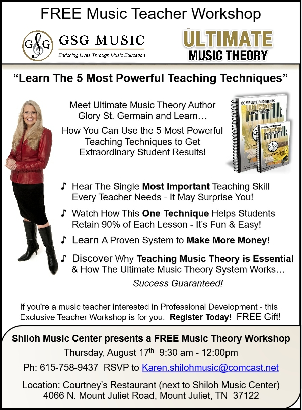 Learn the 5 Most Powerful Teaching Techniques - Shiloh Music Center