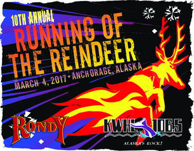 Running of the Reindeer 10th Anniversary Design