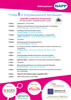 Findacure Scientific Conference Programme 2016