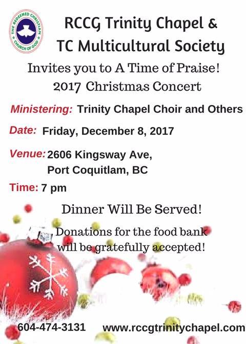 2017 RCCG Trinity Chapel Christmas Concert